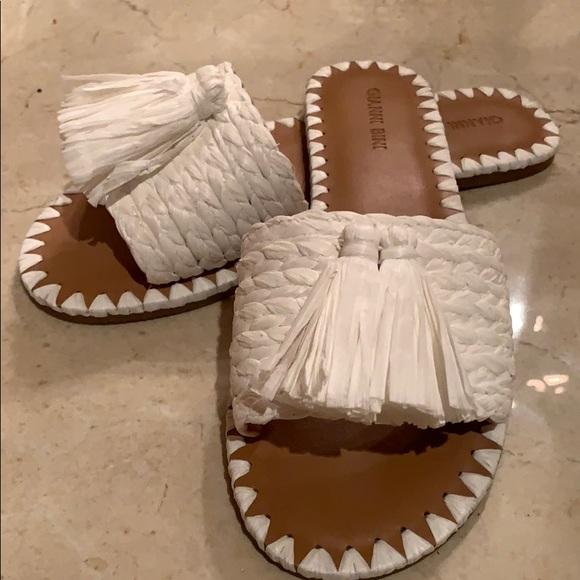 Gianni Bini Shoes - Maikah Raffia Tassel Slides